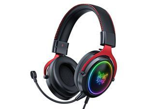 X10 RGB Wired Gaming Headphone with Microphone, Stereo Surround Sound System,Compatible With PC, Mac, X-Box One,PS4 Nintendoswitche And Mobile Devices With 3.5mm Audio Interface