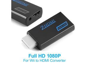 FirstPower Portable Wii to HDMI Wii2HDMI Full HD Converter Audio Output Adapter TV Black
