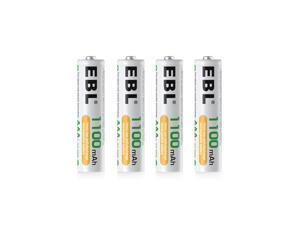 EBL 4 Pack 1100mAh AAA Battery 1.2V Ni-Mh Rechargeable Batteries for Toys Camera Flashlight