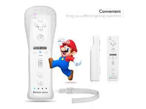 FirstPower Remote Controller For Nintendo 2 in 1 Built in Motion Wii Game Accessories White