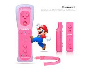 FirstPower Wiimote Remote Controller For Nintendo Wii U Game Pink for Wii Game Accessories