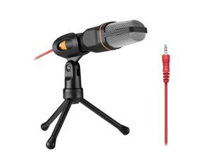 FirstPower Podcast PC Microphone Professional Audio Condenser Microphone Mic Studio Sound Recording Tripod Stand