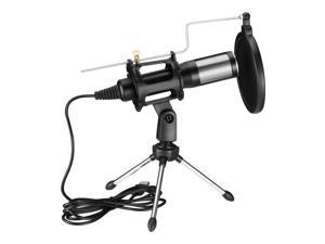 FirstPower USB Streaming Podcast PC Microphone professional Studio Cardioid Condenser Mic Kit for Skype YouTuber Karaoke Gaming Recording