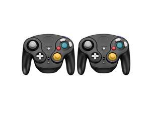 FirstPower 2 Pcs Wireless Gamecube Controller Wavebird Style w/ Adapter for Nintendo NGC GC Black