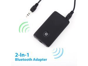 FirstPower 2 IN 1 Bluetooth Adapter 5.0 Transmitter Receiver Wireless Audio 3.5mm Jack Adapter Micro USB Charging Port Audio Player for TV / Home Stereo /Smartphone