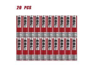 20PCS EBL 3.7V 3000mAh 18650 Rechargeable Batteries For LED Flashlight Headlamp