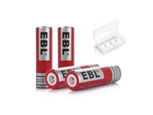 EBL 4Pcs 3.7V 3000mAh 18650 Battery Li-ion Rechargeable Batteries For LED Flashlight Head Torch Head Lamps