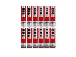 EBL 12Pcs 3.7V 3000mAh 18650 Battery Li-ion Rechargeable Batteries For LED Flashlight Head Torch Head Lamps