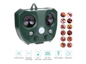 FirstPower Outdoor Solar Ultrasonic Power Pest Animal Repeller Repellent Garden Cat Dog Fox