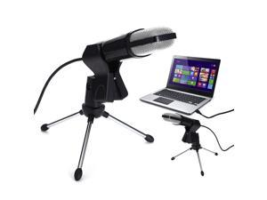 FirstPower Condenser USB Microphone Tripod Stand for Game Chat Studio Recording Laptop PC