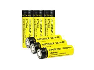 EBL 3.7V 3000mAh Batteries INR 18650 25R High Drain Flat Top Rechargeable Battery 6pcs