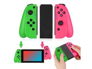 FirstPower Wireless Joy Con Controller for Nintendo Switch L/R Switch Controller Joypad Joystick Compatible for Nintendo Switch Console Replacement– Pink/Green