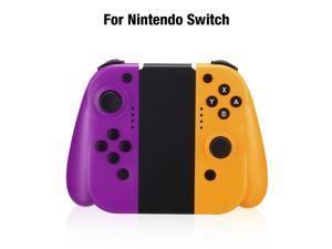 FirstPower Wireless Joy Con Controller for Nintendo Switch L/R Switch Controller Joypad Joystick Compatible for Nintendo Switch Console Replacement– Purple / Yellow