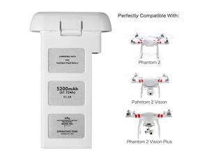 Powerextra LiPo Intelligent Flight Replacement Battery 11.1V 5200mAh  for DJI Phantom 2, Phantom 2 Vision and Phantom 2 Vision Plus - Upgraded