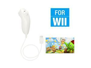 FirstPower Wii Nunchuck Controller,Nunchuck Joystick Gamepad Controller for Wii/Wii U Console (White)