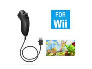 FirstPower Wii Nunchuck Controller,Nunchuck Joystick Gamepad Controller for Wii/Wii U Console (Black)