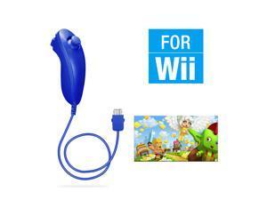 FirstPower Wii Nunchuck Controller,Nunchuck Joystick Gamepad Controller for Wii/Wii U Console (Dark blue)