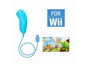 FirstPower Wii Nunchuck Controller,Nunchuck Joystick Gamepad Controller for Wii/Wii U Console (Blue)
