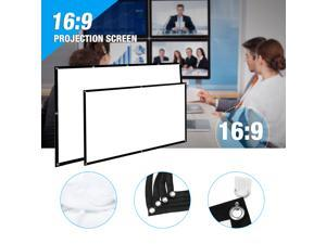 """FirstPower 150"""" 16:9 Portable Foldable Projector Screen HD Outdoor Home Cinema Theater 3D"""
