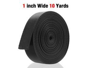 FirstPower Safety belt 1 Inch Wide 10 Yards Black Nylon Heavy Webbing Strap