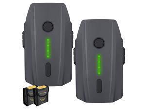 Powerextra 2Pcs 3830mAh 11.4v LiPo Intelligent Flight Replacement Battery for DJI Mavic Pro & Platinum & Alpine White Drone