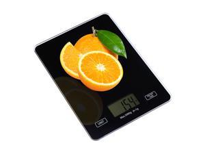 FirstPower Weighing Scale Digital Touch Screen Glass Top Kitchen Postal Scale 5kg 11Lbs Food Weight Diet
