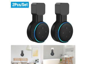 2 Pack Outlet Wall Mount Stand Holder for Amazon Echo Dot 3rd Generation Speaker, Black