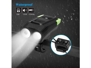 Waterproof USB Rechargeable Bicycle Headlight LED Bike Front Light Cycing T6 LED Light Lamp for Road Mountain Cycling Safety Flashlight
