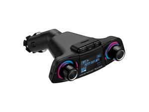 Auto Car MP3 Player Bluetooth Wireless FM Transmitter Handsfree Radio Kit Radio Adapter USB Charger Player Audio Adapter and Receiver, Car Charger,Black