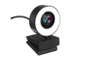 1080P Full HD Autofocus Webcam for PC, Computer 2K USB Web Cam with Microphone, Cover, Expandable Tripod, Touch Switch Light, Streaming Camera for Skype, Teleconference