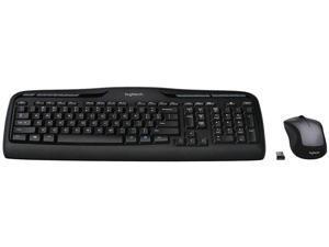 Logitech  Wireless Keyboard and Mouse Combo - Black/Silver