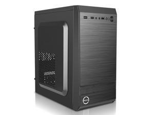 Micro ATX Mini Tower Office Desktop PC Computer Case, USB 2.0, Black