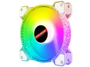 1 Pack RGB Case Fans,HSCCGI 120mm Silent Computer Cooling PC Case Fan RGB Color Changing LED Fan with Remote Controller Fan Hub and Extension