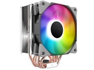 HSCCGI Black CPU Air Cooler w/ 6 Heat Pipes 120mm PWM Processor 180W TDP Fan Intel LGA 1200 115X / AMD AM3 AM4 RGB Sync