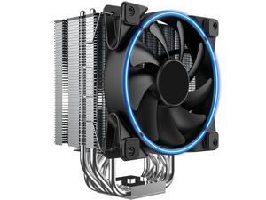 HSCCGI CPU Cooler Slient CPU PWM Fan 120mm, 6 Heat Pipes for Intel Core i7 / i5 / i3,Direct Contact Heat Pipes of AMD Series