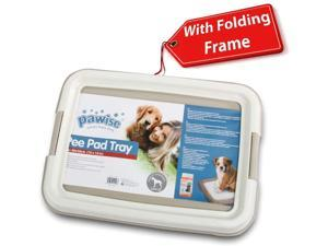 PAWISE Pee Pad Holder - Puppy Training Pads - Best Portable Potty Trainer - Indoor Dog Potty - Puppy Essentials - Dog Training Holder - Puppy Pad Holder