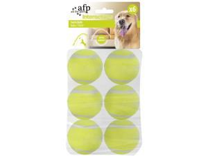 """All for Paws Interactive Tennis Balls, 6 Pack Dog Ball Toys, Great for Ball Launcher, 2"""""""