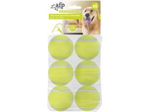 """All for Paws Interactive Tennis Balls, 6 Pack Dog Ball Toys, Great for Ball Launcher,  2.5"""""""