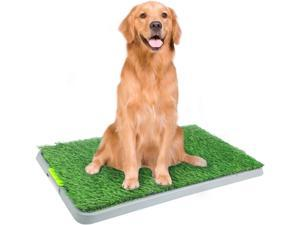 "PAWISE Large Dog Pee Grass Training Mat, Artificial Dog Potty Grass for Indoor and Outdoor Use, 27"" x 17''"