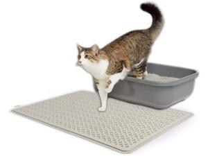 All for Paws Anti Tracking Cat Litter Mat, Scatter Reducing Kitten Litter Trapping Silicone Mat, 19.5x13.5 Inch