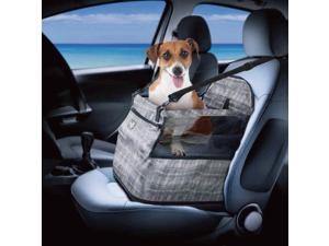 ALL FOR PAWS Dog Car Seat Upgrade Deluxe Portable Pet Dog Booster Car Seat for Cars,Trucks and SUVs - Adjustable Safety Seat Belt Perfect for Small and Medium Pets up to 30 lbs (Grey)