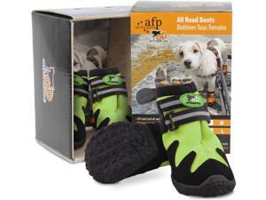 All for Paws Dog Paw Protector Boots for All Seasons, Waterproof Dog Hiking Shoes with Reflective Straps, L, 4PCS
