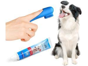 All for Paw Dog Peanut Toothpaste Dental Care Kit, Palm Assisted Toothbrush Helps Reduce Tartar and Plaque Buildup