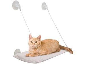 All for Paws Cat Window Perch, Collapsible Cat Seat Lounger, Weighted up to 26lb