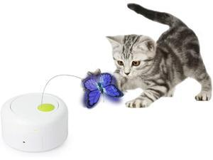 All for Paws Interactive Motion Activate Cat Butterfly Toy with One Replacement Flashing Butterflies Toy