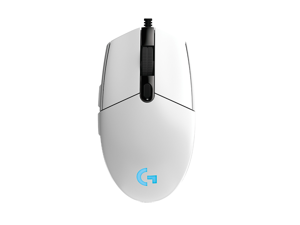 Logitech G102 (G203) IC PRODIGY 8000DPI 1000Hz Polling Rate 16.8M Color RGB Gaming Mouse - White