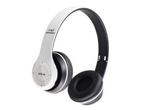 P47 Bluetooth Headphone with Microphone Wireless Headphones Support TF Card Gaming Headset Head Phone,white