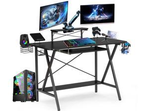 """47"""" Gaming Table E-Sports Computer Desk Home Office Workstation with USB Cup Holder Headphone Hook"""