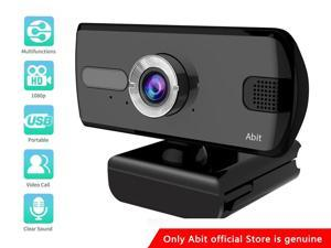 1080P Webcam Computer Camera, USB Plug and Play, Webcam with Microphone for PC MAC Laptop Desktop, Stream Web Camera for Skype,YouTube, Live Broadcast Video Conference (Black)