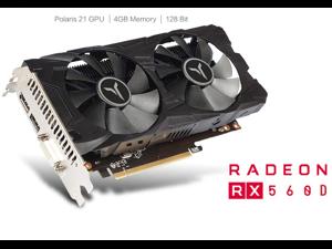 Yeston AMD Radeon RX 560 4G D5 Gaming Graphics Card Video Card GPU GA Fan Edition, 4G/128bit/GDDR5 PCI-Express 3.0x8 DirectX 12,DVI-D HDMI DP Desktop Graphics Card (RX560D-4G D5)